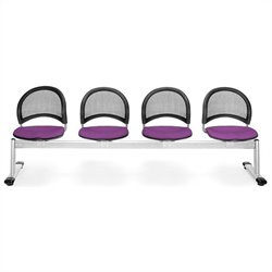 OFM Moon 4 Beam Seating with Seats in Plum