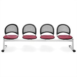 4 Beam Seating with Seats in Pink