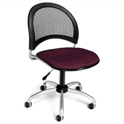 OFM Moon Swivel Chair in Burgundy