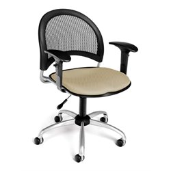 OFM Moon Swivel Office Chair with Arms in Khaki