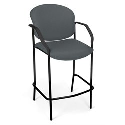 OFM Deluxe Cafe Chair with Arms in Gray