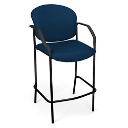 OFM Deluxe Cafe Chair with Arms in Navy
