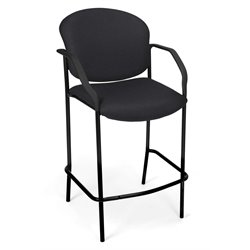 OFM Deluxe Cafe Chair with Arms in Black