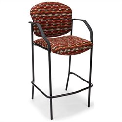 OFM Cafe Height Chair with Arms in Cherry Brook