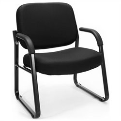 Reception Guest Chair with Arms in Black