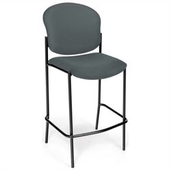 OFM Cafe Height Armless Chair in Gray