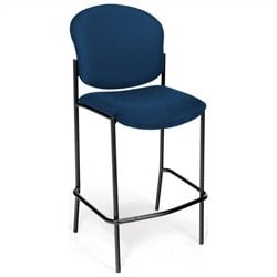 OFM Cafe Height Armless Chair in Navy