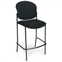 OFM Cafe Height Armless Chair in Black