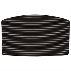 OFM Striped Back Cushion in White