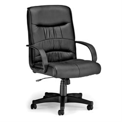 OFM Encore Synthetic Leather Executive Chair in Black
