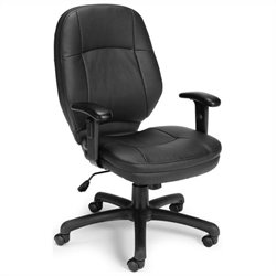 OFM Ergonomic Task Office Chair in Black with Adjustable Arms