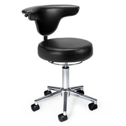 OFM Anatomy Vinyl Chair in Black