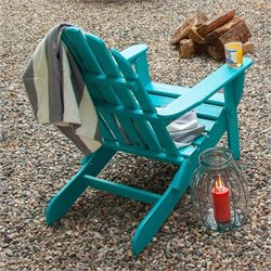 Polywood Classic Folding Adirondack Chair in Aruba