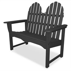 Polywood Classic Adirondack 48 inch Bench in Slate Grey