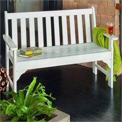 Polywood Vineyard 48 inch Bench in White