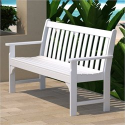 Polywood Vineyard 60 inch Bench in White