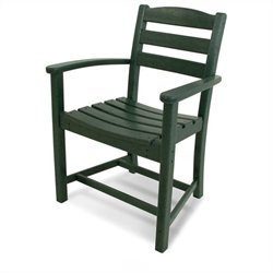 Polywood La Casa Cafe Dining Arm Chair in Green