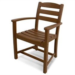 Polywood La Casa Cafe Dining Arm Chair in Teak