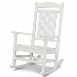 Polywood Presidential Rocker in White