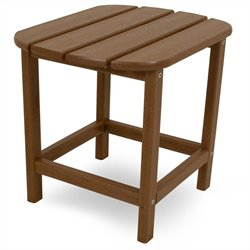 Polywood South Beach 18 inch Side Table in Teak