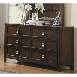 Samuel Lawrence Bayfield 6 Drawer Dresser in Brown-AA