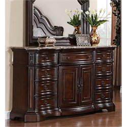 Samuel Lawrence Edington 9 Drawer Dresser in Brown-BB