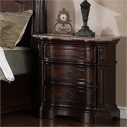 Samuel Lawrence Edington 3 Drawer Nightstand in Brown