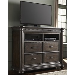 Samuel Lawrence Grand Manor 4 Drawer Media Chest in Brown