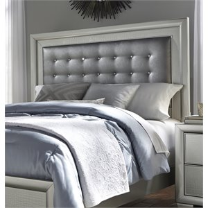 Samuel Lawrence Celestial Upholstered Panel Headboard in Silver-D