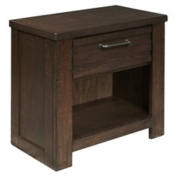 Samuel Lawrence Ruff Hewn Nightstand in Brown