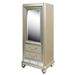 Samuel Lawrence Li'l Diva Door Wardrobe in Silver