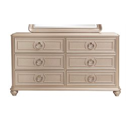 Samuel Lawrence Dynasty 6 Drawer Dresser in Silver