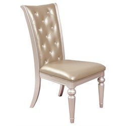 Samuel Lawrence Dynasty Upholstered Dining Side Chair in Silver