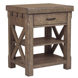 Samuel Lawrence Flatbush Kitchen Island in Brown