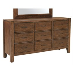 Samuel Lawrence Lincoln Park 9 Drawer Dresser in Brown