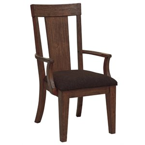 Samuel Lawrence Henna Dining Arm Chair in Brown