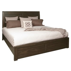 Samuel Lawrence Ruff Hewn Panel Bed in Brown