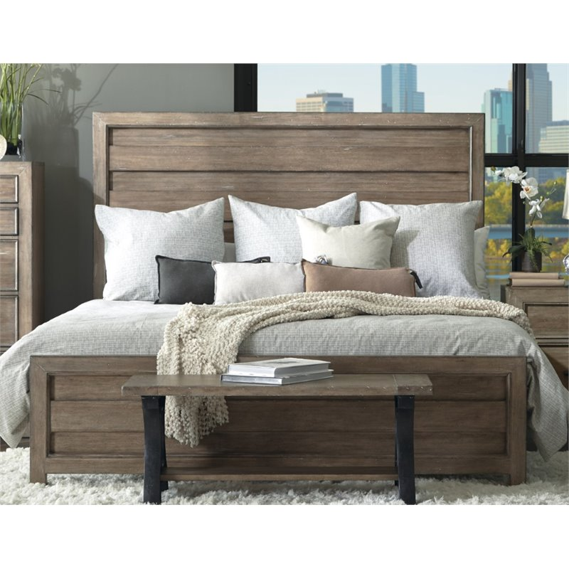 Samuel Lawrence Flatbush Hill Queen Panel Bed in Brown