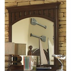 Samuel Lawrence Furniture Expedition Landscape Mirror in Cherry