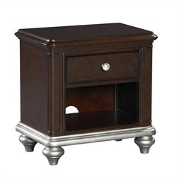 Samuel Lawrence Furniture Girls Glam Nightstand in Black Cherry