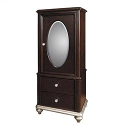 Samuel Lawrence Furniture Girls Glam Door Wardrobe in Black Cherry