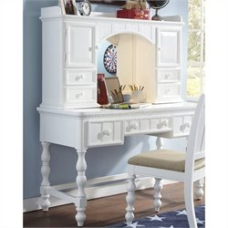 Samuel Lawrence Furniture SummerTime Desk and Hutch in White