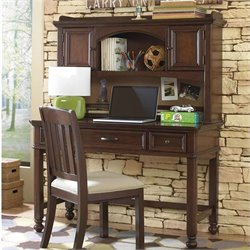 Samuel Lawrence Furniture Expedition Desk and Hutch in Cherry