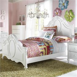 Samuel Lawrence Furniture SweetHeart Panel Bed in White - Twin