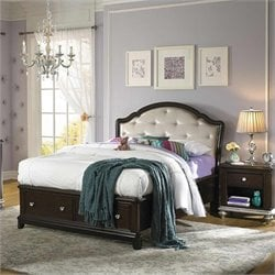 Samuel Lawrence Furniture Girls Glam Upholstered Bed - Twin