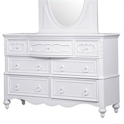 Samuel Lawrence Furniture SweetHeart Drawer Dresser in White