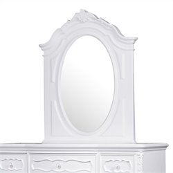 Samuel Lawrence Furniture SweetHeart Landscape Mirror in White