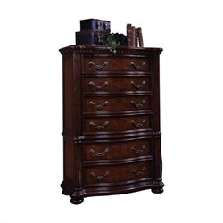 Samuel Lawrence San Marino High Chest in Dark Brown