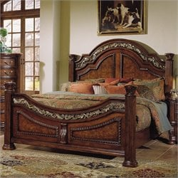 Samuel Lawrence San Marino Panel Bed in Dark Brown