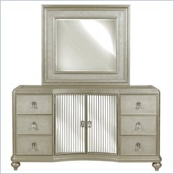 Samuel Lawrence Furniture Platinum Door Dresser in Metallic
